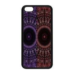 Digital Colored Ornament Computer Graphic Apple iPhone 5C Seamless Case (Black)