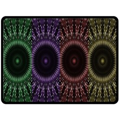 Digital Colored Ornament Computer Graphic Double Sided Fleece Blanket (Large)