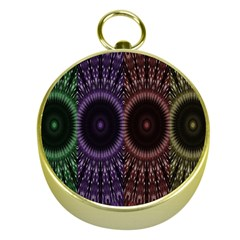 Digital Colored Ornament Computer Graphic Gold Compasses