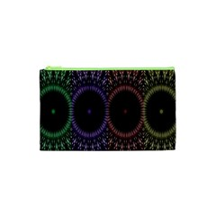 Digital Colored Ornament Computer Graphic Cosmetic Bag (XS)