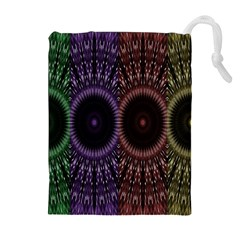 Digital Colored Ornament Computer Graphic Drawstring Pouches (extra Large)