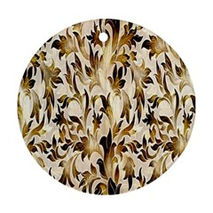 Floral Vintage Pattern Background Ornament (Round)