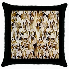 Floral Vintage Pattern Background Throw Pillow Case (Black)