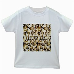 Floral Vintage Pattern Background Kids White T Shirts