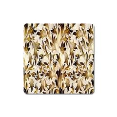 Floral Vintage Pattern Background Square Magnet