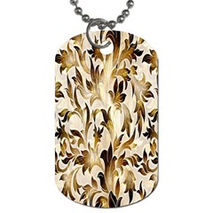 Floral Vintage Pattern Background Dog Tag (two Sides)