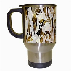Floral Vintage Pattern Background Travel Mugs (White)