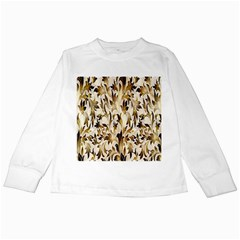 Floral Vintage Pattern Background Kids Long Sleeve T-Shirts