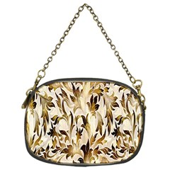 Floral Vintage Pattern Background Chain Purses (One Side)