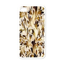 Floral Vintage Pattern Background Apple iPhone 4 Case (White)