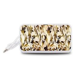 Floral Vintage Pattern Background Portable Speaker (White)