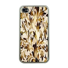 Floral Vintage Pattern Background Apple Iphone 4 Case (clear)