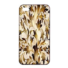 Floral Vintage Pattern Background Apple Iphone 4/4s Seamless Case (black)