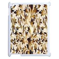 Floral Vintage Pattern Background Apple iPad 2 Case (White)