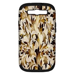 Floral Vintage Pattern Background Samsung Galaxy S III Hardshell Case (PC+Silicone)