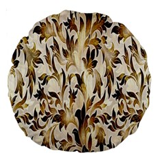 Floral Vintage Pattern Background Large 18  Premium Round Cushions