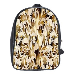 Floral Vintage Pattern Background School Bags (XL)