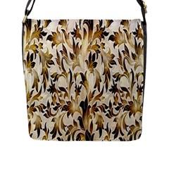 Floral Vintage Pattern Background Flap Messenger Bag (L)