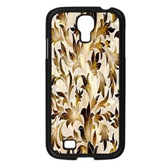 Floral Vintage Pattern Background Samsung Galaxy S4 I9500/ I9505 Case (Black)
