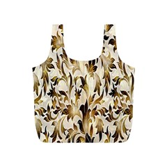 Floral Vintage Pattern Background Full Print Recycle Bags (S)