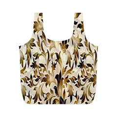 Floral Vintage Pattern Background Full Print Recycle Bags (M)
