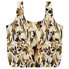 Floral Vintage Pattern Background Full Print Recycle Bags (L)