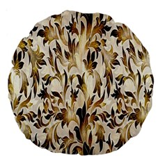 Floral Vintage Pattern Background Large 18  Premium Flano Round Cushions