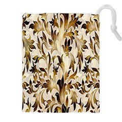 Floral Vintage Pattern Background Drawstring Pouches (xxl)