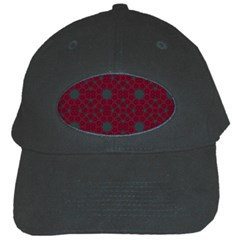 Blue Hot Pink Pattern With Woody Circles Black Cap