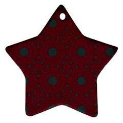 Blue Hot Pink Pattern With Woody Circles Ornament (star)