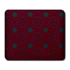 Blue Hot Pink Pattern With Woody Circles Large Mousepads
