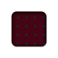 Blue Hot Pink Pattern With Woody Circles Rubber Coaster (square)