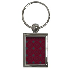 Blue Hot Pink Pattern With Woody Circles Key Chains (Rectangle)
