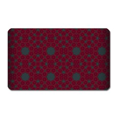 Blue Hot Pink Pattern With Woody Circles Magnet (Rectangular)