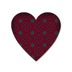 Blue Hot Pink Pattern With Woody Circles Heart Magnet