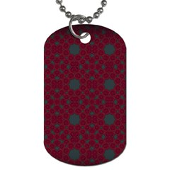 Blue Hot Pink Pattern With Woody Circles Dog Tag (one Side)