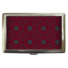 Blue Hot Pink Pattern With Woody Circles Cigarette Money Cases