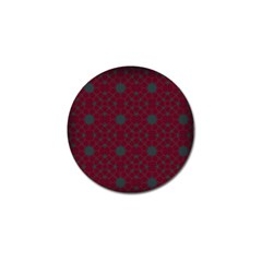 Blue Hot Pink Pattern With Woody Circles Golf Ball Marker