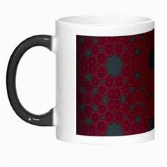 Blue Hot Pink Pattern With Woody Circles Morph Mugs