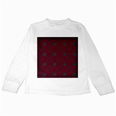 Blue Hot Pink Pattern With Woody Circles Kids Long Sleeve T-Shirts