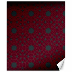 Blue Hot Pink Pattern With Woody Circles Canvas 8  x 10