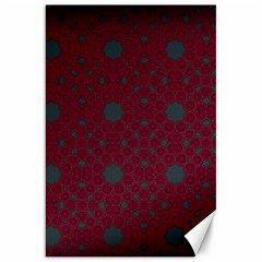 Blue Hot Pink Pattern With Woody Circles Canvas 20  X 30