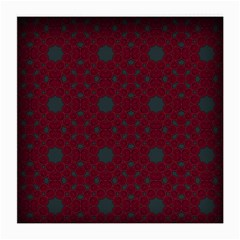 Blue Hot Pink Pattern With Woody Circles Medium Glasses Cloth