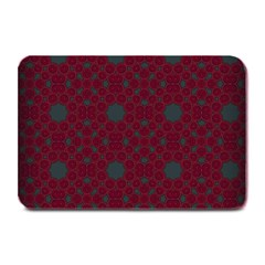 Blue Hot Pink Pattern With Woody Circles Plate Mats