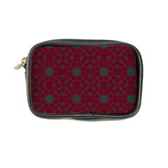 Blue Hot Pink Pattern With Woody Circles Coin Purse
