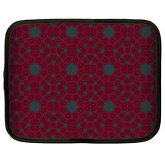 Blue Hot Pink Pattern With Woody Circles Netbook Case (xl)