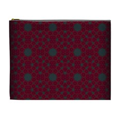 Blue Hot Pink Pattern With Woody Circles Cosmetic Bag (xl)