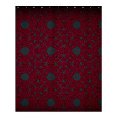 Blue Hot Pink Pattern With Woody Circles Shower Curtain 60  X 72  (medium)
