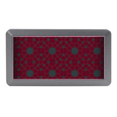 Blue Hot Pink Pattern With Woody Circles Memory Card Reader (Mini)