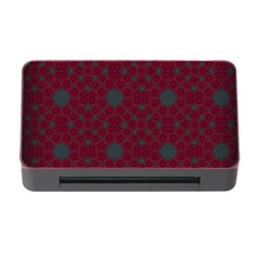 Blue Hot Pink Pattern With Woody Circles Memory Card Reader with CF